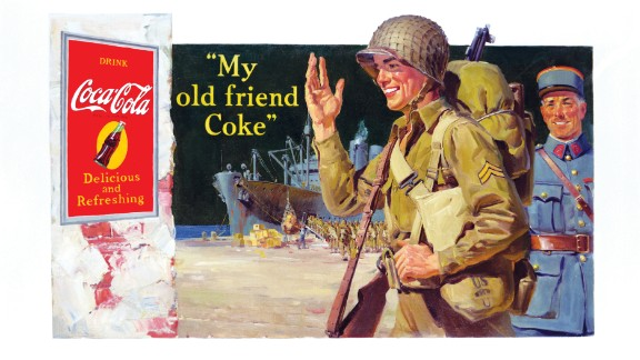 1944: A soldier is seen on this World War II-era ad.