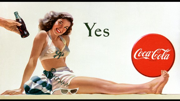 "1946: The Coca-Cola billboard ""Yes Girl"" makes its debut. It was painted by Haddon Sundblom, who also created the iconic Coca-Cola Santa Claus."