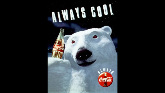 "1993: Coca-Cola's animated polar bears debuted in 1993 as part of the company's ""Always"" campaign. They are often used in holiday ads."
