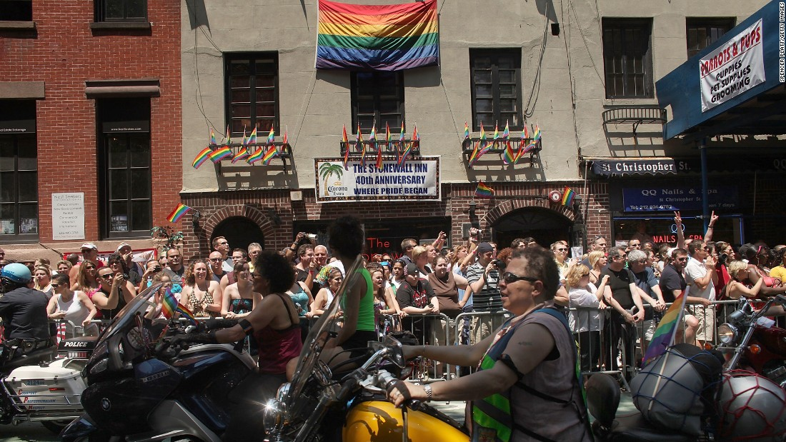 Over the years, the New York City pride march has continued to celebrate the role of the Stonewall Inn in the LGBT rights movement. The 2009 march marked the 40th anniversary of the Stonewall riots.