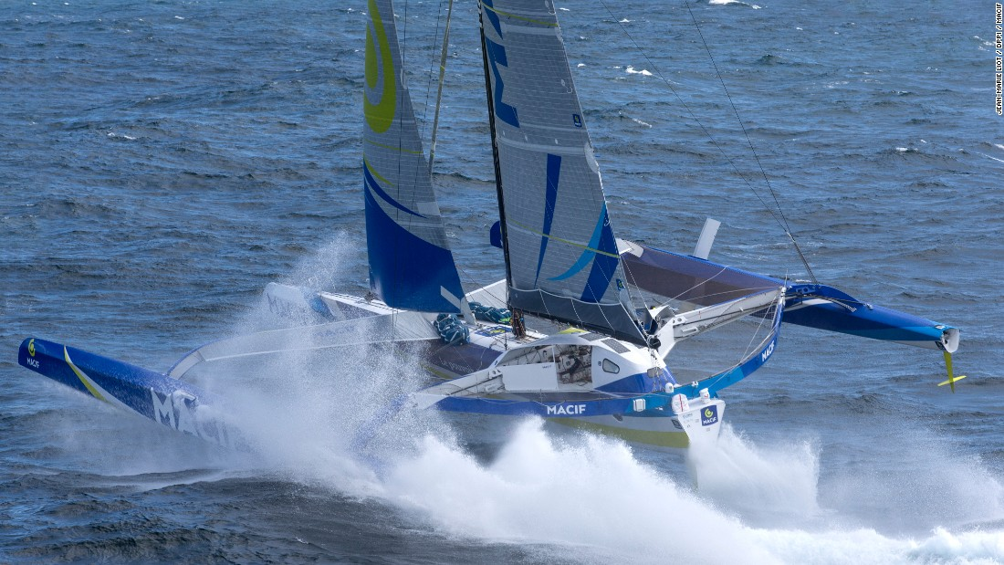 In 2013, Gabart won the Vendee Globe -- an unassisted, round the world race -- in a record time of 78 days, two hours and 16 minutes.