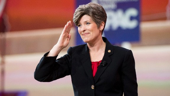 UNITED STATES - FEBRUARY 26: Sen. Joni Ernst, R-Iowa, speaks to the crowd at CPAC in National Harbor, Md., on Feb. 26, 2015. (Photo By Bill Clark/CQ Roll Call)