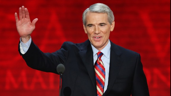 TAMPA, FL - AUGUST 29:  U.S. Sen. Rob Portman (R-OH) waves during the third day of the Republican National Convention at the Tampa Bay Times Forum on August 29, 2012 in Tampa, Florida. Former Massachusetts Gov. Former Massachusetts Gov. Mitt Romney was nominated as the Republican presidential candidate during the RNC, which is scheduled to conclude August 30.  (Photo by Mark Wilson/Getty Images)