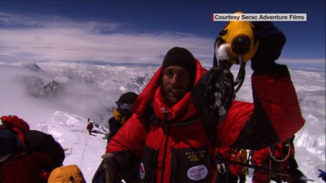 Erik Weihenmayer is the first blind person to reach the summit of Mount Everest.