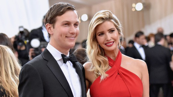 """Jared Kushner and wife  Ivanka Trump attend the """"Manus x Machina: Fashion In An Age Of Technology"""" Costume Institute Gala at Metropolitan Museum of Art on May 2, 2016 in New York City."""