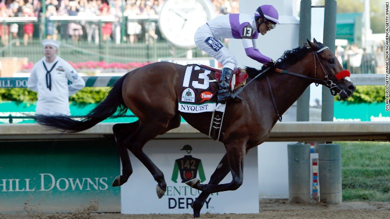 Favored Nyquist wins Kentucky Derby