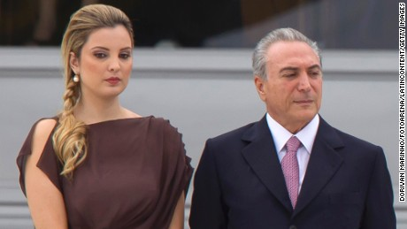 Brazilian Vice President Michel Temer and his wife, Marcela Temer, at Dilma Rousseff's 2011 inauguration.