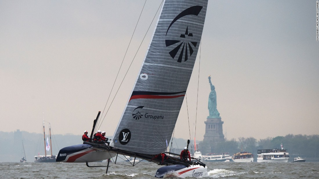 Organizers said there wasn't enough wind to stage a full card of racing on Saturday.