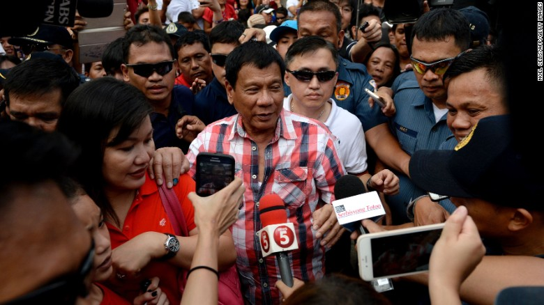 Tough-talking Duterte, popular and polarizing