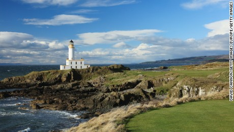 Turnberry's redesigned Aisla course features a new ninth green at the foot of the iconic lighthouse.