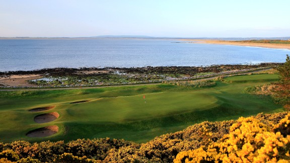 Royal Dornoch: The venerable spot hosts two courses -- the Championship and the Struie -- but it is the former track that draws in visitors from around the world. Winding along sinuous sandy shores and among the dunes behind, the fast-running course features humps, hollows, pot bunkers and gorse of a true links test, sandwiched between the sea and purple heather-clad mountains.