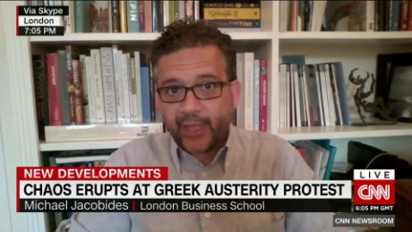 exp Chaos Erupsts at Greek Austerity Protests _00044304