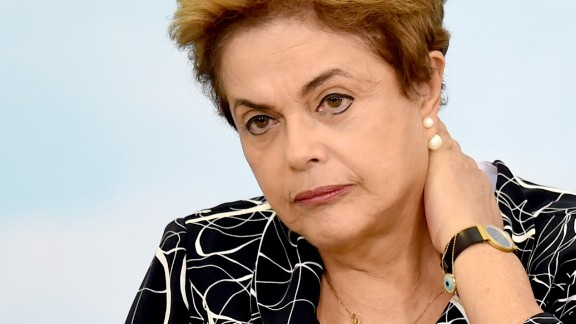 Brazilian President Dilma Rousseff attends the launching ceremony of a new stage of the state-subsidized housing program at Planalto Palace in Brasilia on May 6, 2016. A special committee in Brazil