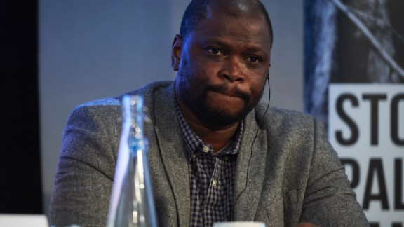 Ali  Kaba, from Liberia, is urging a boycott of firms that commit human rights violations and land seizures to cultivate palm oil.