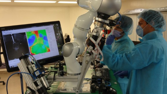 The robot comes equipped with tools for suturing, fluorescent and 3D imaging, force sensing, and submillimeter positioning. Researchers found that the robot performed better than manual surgery.
