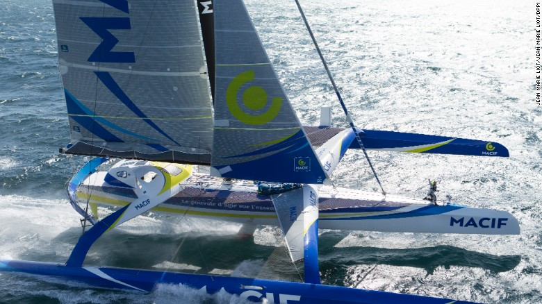 The world-record breaking 100-foot sailboat?