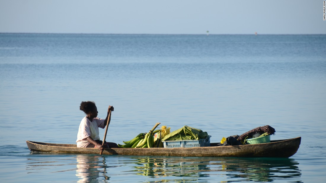 Five islands that have been submerged by rising sea levels in the Solomons were not inhabited, but were used for fishing. Photo taken in May 2010.