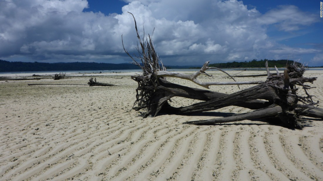 In the past 20 years, sea levels in the Solomon Islands have risen up to 10 milimeters annually. Photo taken in October 2013.