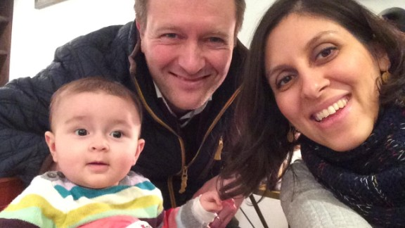 Richard Ratcliffe and Nazanin Zaghari-Ratcliffe pictured with daughter Gabriella before the arrest in 2016