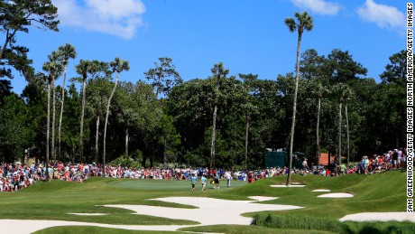 A general view of the eighth hole during the final round of The Players Championship in 2013.
