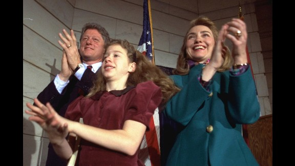 The Clintons celebrate Bill's inauguration in Little Rock, Arkansas, in 1991. He was governor from 1983 to 1992, when he was elected President.