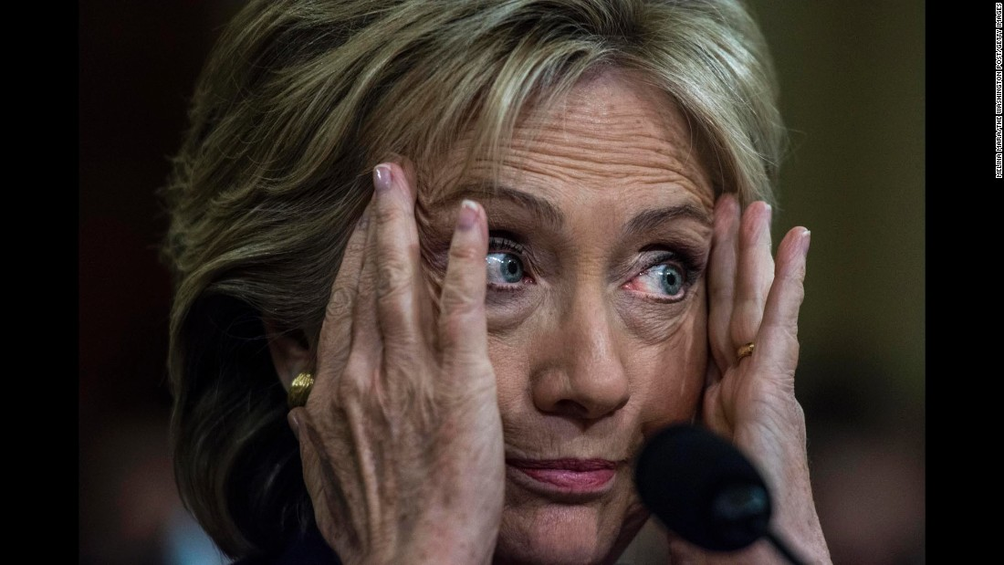 "Clinton testifies about the Benghazi attack during a House committee meeting in October 2015. ""I would imagine I have thought more about what happened than all of you put together,"" she said during the 11-hour hearing. ""I have lost more sleep than all of you put together. I have been wracking my brain about what more could have been done or should have been done."" Months earlier, Clinton had acknowledged a ""systemic breakdown"" as cited by an Accountability Review Board, and she said that her department was taking additional steps to increase security at U.S. diplomatic facilities."