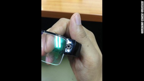 The students allegedly used a camera hidden in a pair of glasses to record test questions.