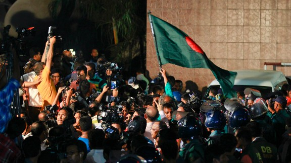 Police were deployed to manage the crowds.