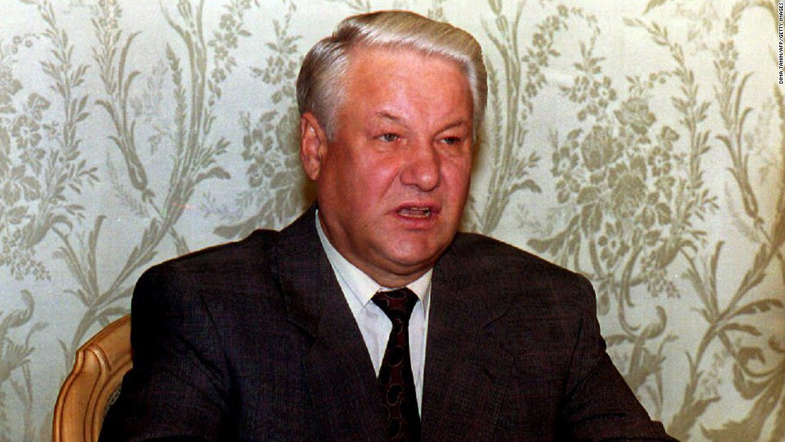 "<strong>Boris Yeltsin:</strong> The Russian President <a href=""http://money.cnn.com/1999/12/31/emerging_markets/yeltsin/"" target=""_blank"">announced his resignation</a> on New Year's Eve in 1999, putting then-Prime Minister Vladimir Putin in charge. During the announcement, Yeltsin apologized for failing to live up to early expectations as the architect of Russia's new democracy."