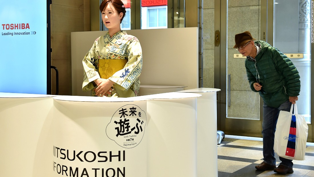 "Nihonbashi Mitsukoshi Main Store ""employs"" a robot named Aiko Chihira as a receptionist. It also has a team of color analysts who can choose the perfect tie for its customers, should they need one."