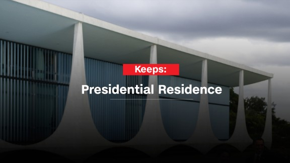 Rousseff is likely to be allowed to stay at the Alvorada Palace, the official presidential home. And she also gets to keep access to the Granja do Torto, the retreat that's Brazil's equivalent to Camp David.