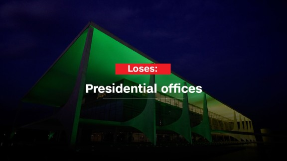 Rousseff will lose access to the presidential offices in the Planalto Palace.