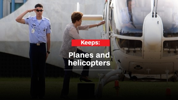 The new Cabinet will have to notify the Brazilian air force on whether Rousseff keeps her flying privileges.