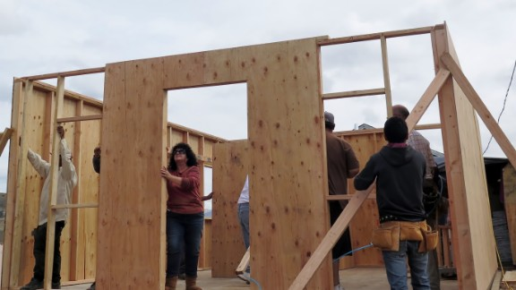 CNN Hero Paula Claussen and volunteers construct a home in one workday