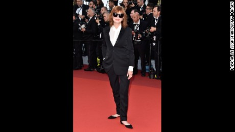 "Susan Sarandon attends the ""Cafe Society"" premiere and the Opening Night Gala during the 69th annual Cannes Film Festival on May 11 in Cannes, France."
