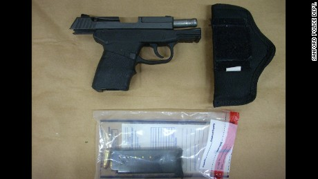 The gun George Zimmerman used to kill Trayvon Martin on February 26, 2012, in Sanford, Florida.