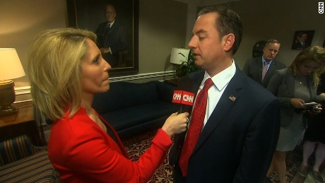 Reince Priebus talks to CNN's Dana Bash