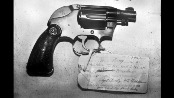 Jack Ruby shocked the world when he shot and killed Lee Harvey Oswald shortly after Oswald was accused of assassinating President John F. Kennedy in 1963. The gun used to kill Oswald, a Colt Cobra, was sold at auction in 1991 by Ruby's brother. It was bought for a reported $220,000 by Florida businessman Anthony Pugliese III. Pugliese himself put it up for auction in 2008, but he kept it after no bid met his reserve price, the Guernsey's auction house said.
