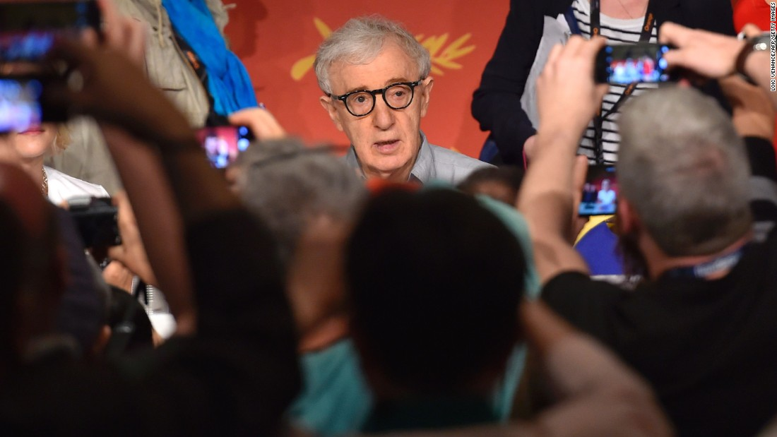 "Director Woody Allen attends a news conference for the film ""Cafe Society"" at the Cannes Film Festival in Cannes, France, on Wednesday, May 11. <a href=""http://www.cnn.com/2016/05/12/entertainment/gallery/cannes-red-carpet-2016/index.html"" target=""_blank"">See red-carpet shots from the festival </a>"