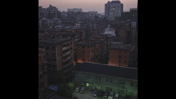 A panoramic view of downtown Kaili.