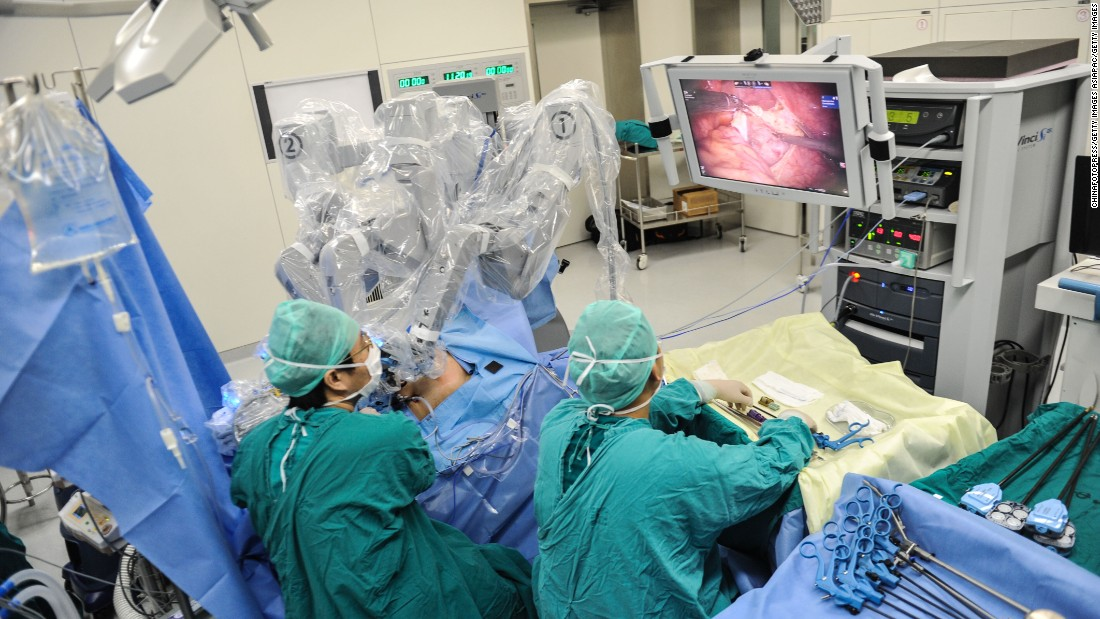 "Robots have also become useful when it comes to operating. The<a href=""http://www.davincisurgery.com/"" target=""_blank""> da Vinci Sugery System</a> lets surgeons control a multi-armed robot which has tiny wristed instruments that can bend and rotate more effectively than the human hand."