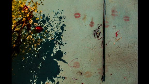 Lipstick and graffiti mark the room of Rocio, a 15-year-old who disappeared in November.