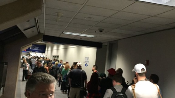 Jeff Dashley missed his flight on Friday because of long lines at Dallas/Fort Worth International Airport.