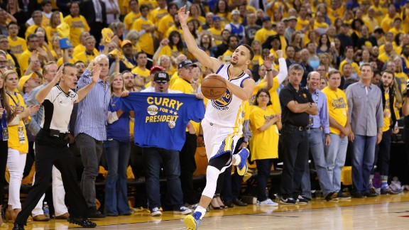 OAKLAND, CA - MAY 11:  Stephen Curry #30 of the Golden State Warriors runs down court during the finals seconds of their win over the Portland Trail Blazers in Game Five of the Western Conference Semifinals during the 2016 NBA Playoffs on May 11, 2016 at Oracle Arena in Oakland, California.  NOTE TO USER: User expressly acknowledges and agrees that, by downloading and or using this photograph, User is consenting to the terms and conditions of the Getty Images License Agreement.  (Photo by Ezra Shaw/Getty Images)
