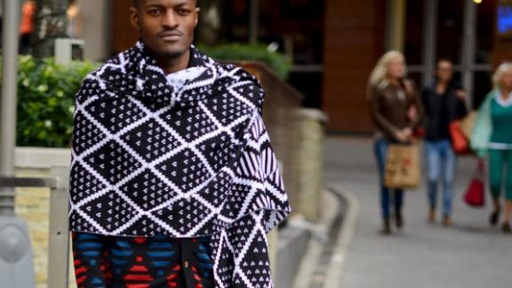 Laduma Ngxokolo, founder of knitwear label MaXhosa by Laduma. The brand is