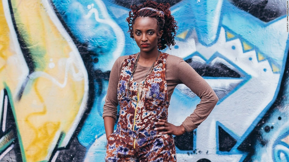 "Mitumba is a Swahili word for secondhand clothing. Secondhand clothes shopping is a key part of Nairobi's fashion scene. Flea markets are popular. ""there's a renaissance happening in Nairobi. the creative industry is doing extremely well and that's affective the fashion scene"", says stylist Sunny Dolat in Fashion Cities Africa. <br />Pictured: Jacky James, performing artist"