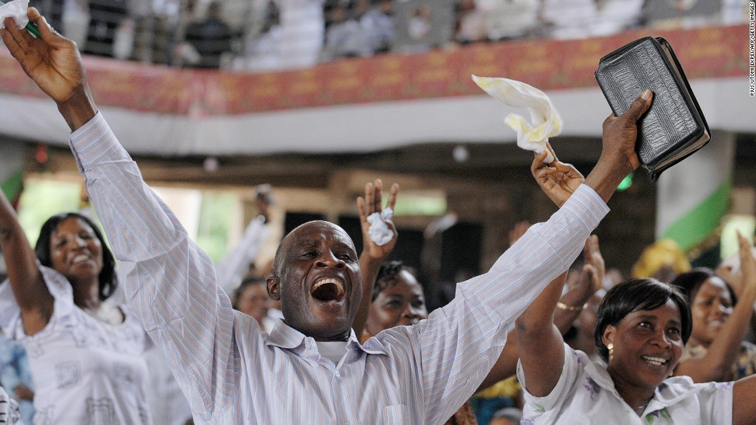 On average 66% of citizens in Ghana have voted in elections since independence in 1957.<br /> <br />Pictured: Worshipers in Accra celebrate Ghana's new President in January, 2009 - the late John Atta Mills. Photo Pius Utomi Ekpei/AFP/Getty Images.