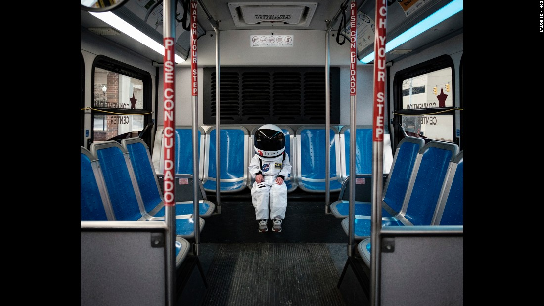 "Harrison takes public transportation. His dad said the project started soon after they rode the bus together. ""I'm just sitting there looking at him,"" Sheldon said, ""and he's in just in awe of such a mundane and pedestrian task."""