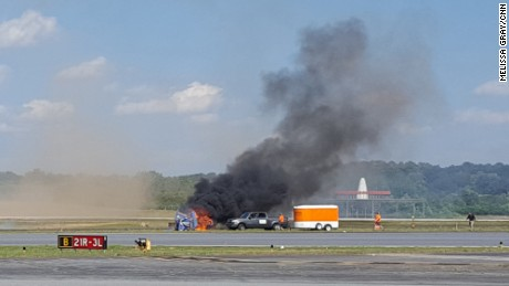A biplane crashed at an airshow near Atlanta.