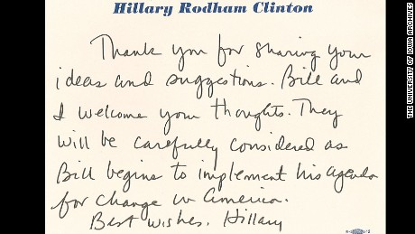 Hillary Clinton Combines Printing With Cursive Showing She Has A Good Sixth Sense About Things Her Strong T Reveals Stubbornness And Tenacity